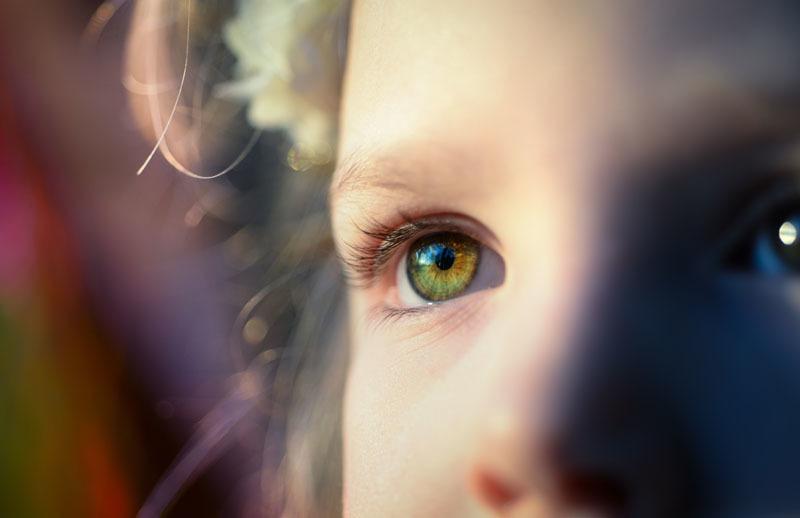 El ojo de un niño