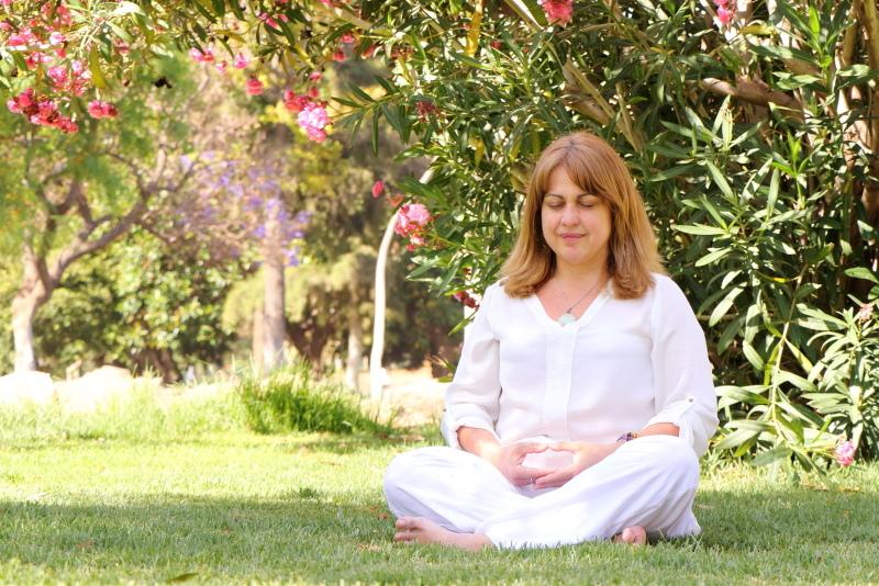 Meditando en el parque